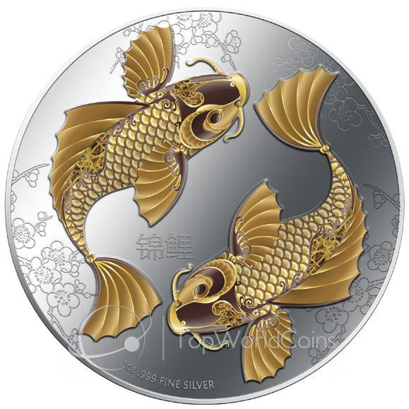 Niue 2012 2$ Feng Shui - Koi Proof Silver Coin :: Top World Coins