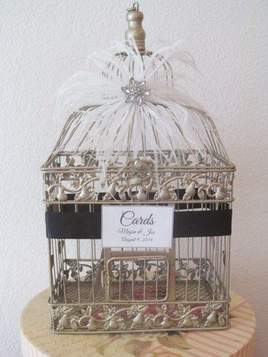 Great Gatsby #BirdcageWeddingCardHolder Art Deco Style | TheWeddingDecorPlace - Wedding on ArtFire