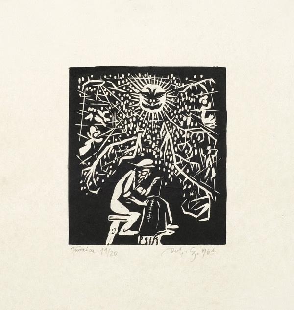 Jerzy Duda-Gracz | Cykl Judaica | Krawiec | 1964 | http://rynekisztuka.pl/2013/05/24/jerzy_duda_gracz/