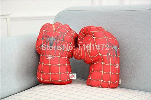 1Pair=2Pcs super heroes the avengers Plush Toy Spider-man Spiderman gloves boxing gloves COSPLAY toy @ niftywarehouse.com