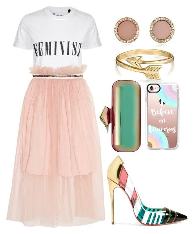 """Girl Power Vibes"" by josie-land on Polyvore featuring Bling Jewelry, Jimmy Choo, Tee and Cake, Christian Louboutin, Mother of Pearl, Casetify, Michael Kors and Spring"