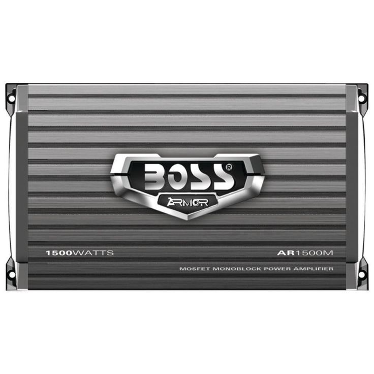 BOSS AUDIO AR1500M Armor Series Monoblock MOSFET Power Class AB Amp (1,500 Watts)