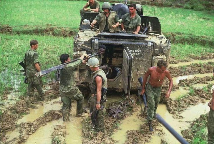 An M133, mud, heat, stretchers...Vietnam.