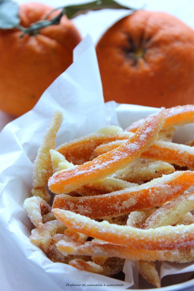 Scorze di arancia sabbiate o arance candite | | Profumo di Cannella e Cioccolato