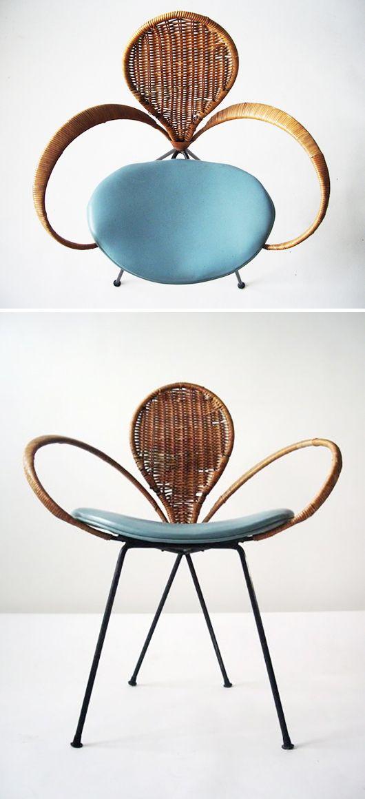 mid-century modern wicker / sfgirlbybay