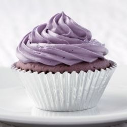 Taro cupcakes with taro cream cheese frosting - this is a great recipe that can be used for cakes as well.