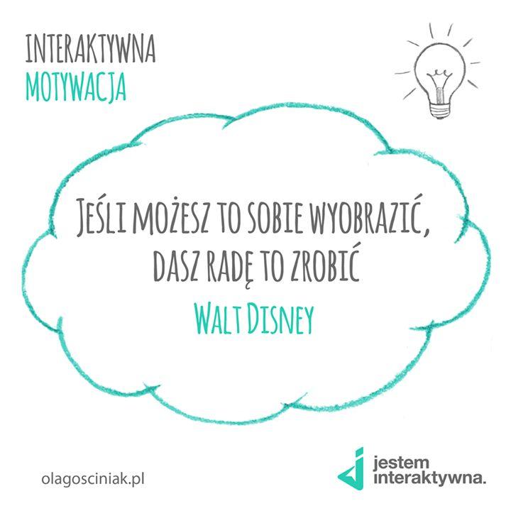 [PONIEDZIAŁEK - CYTAT] Na nowy rok Walt Disney :)  #cytat #motywacja #poniedziałek #quote #motivation #jesteminteraktywna #inspiracja #inspiration