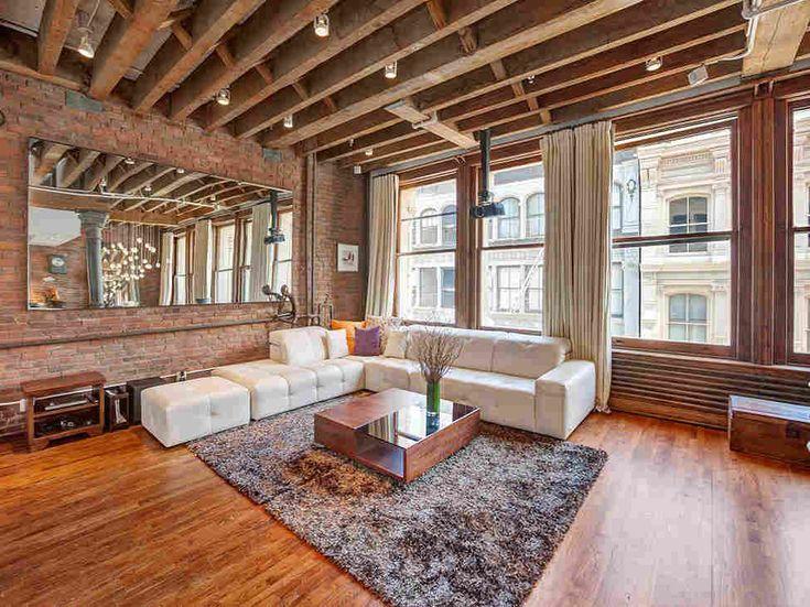 Лофт в жилом районе Сохо в Нью-Йорке