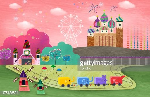 Stock Illustration : illustration of an amusement park