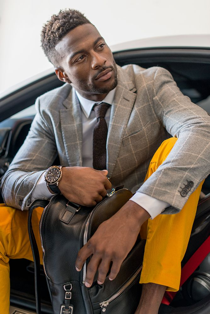 Wrist Action: Denver Broncos WR Emmanuel Sanders in Shinola