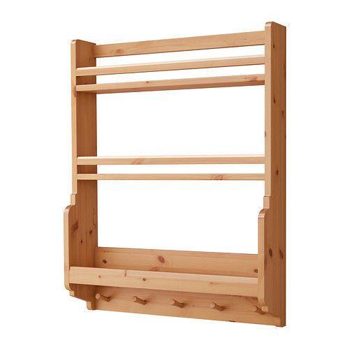 Ikea GAMLEBY Wall Kitchen Plates Shelf,Light antique stain,Crockery Storage Unit