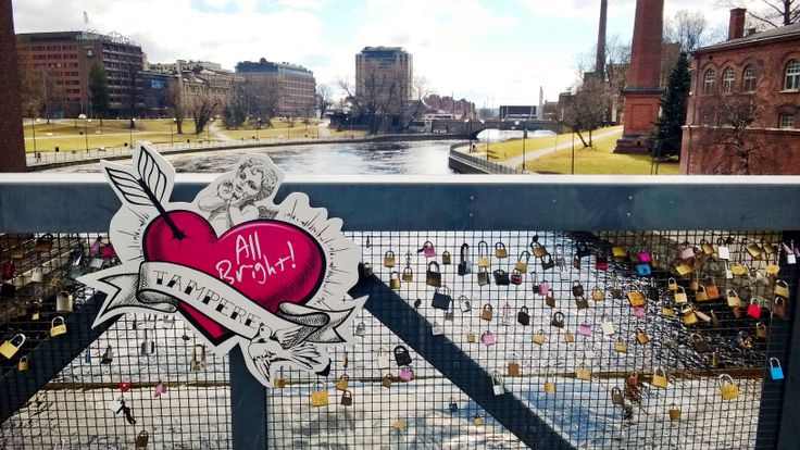 Love is right. Love is All Bright! Eternal love - Tampere, Finland. #loveisallbright www.tampereallbright.fi