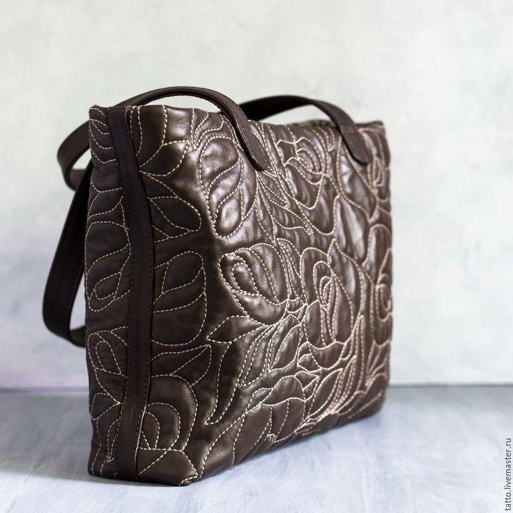 Купить Сумка кожаная - Роза - коричневый, сумка, женская сумка, оригинальная сумка, дизайнерская сумка