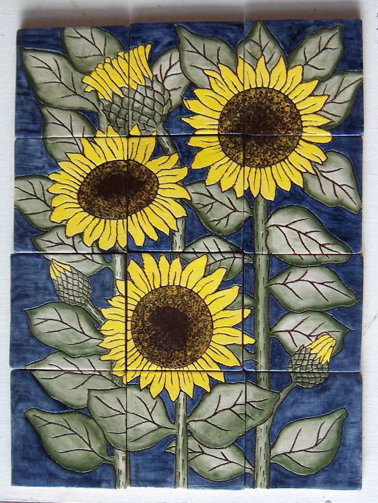 87 Best Images About Sunflower Tiles On Pinterest