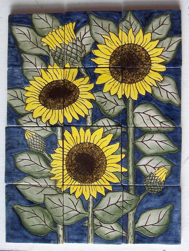 90 Best Sunflower Tiles Images On Pinterest Sunflowers
