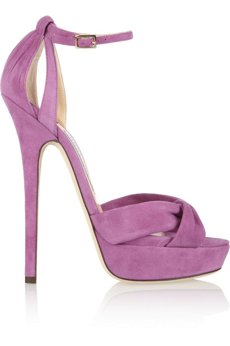 suede rhinestone buckle boot - Pink & Purple Jimmy Choo London qcdVON2dmK