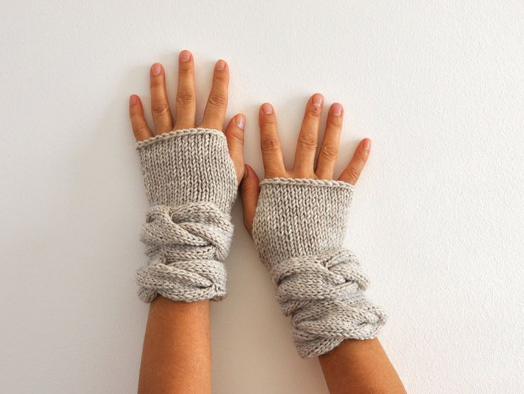 Fingerless Gloves Wrist Warmers Mittens Beige Sand Neutral Earth Tones Warm Cozy Women Gloves Women Accessories. $32.00, via Etsy.