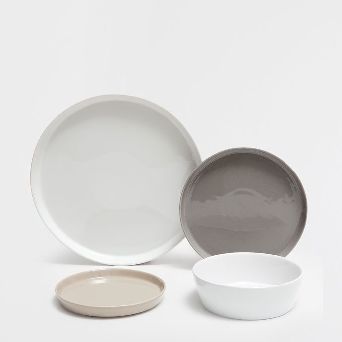 Multicolored porcelain dinnerware