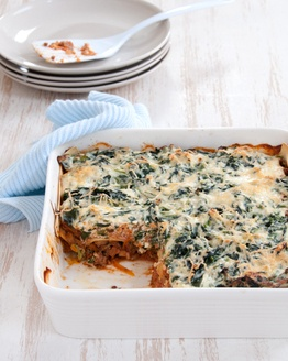 Healthy lasagne.