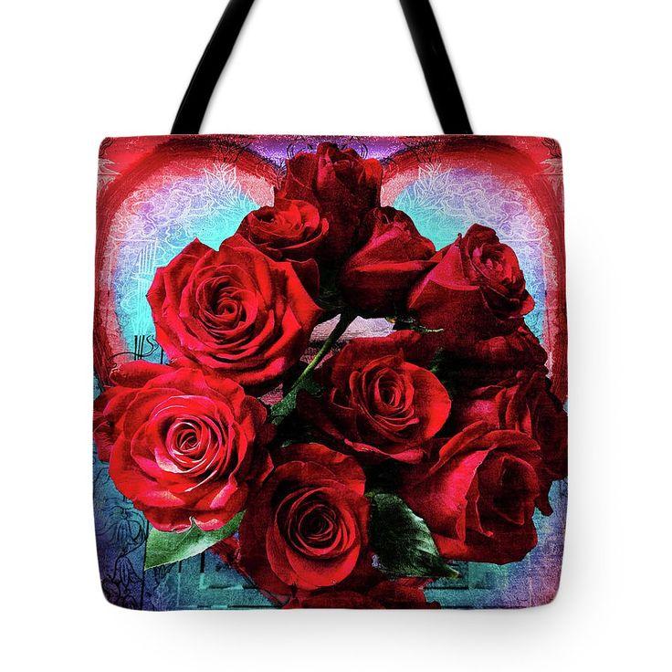 VIDA Tote Bag - Cabbage Rose Tote by VIDA 35eR1SGA