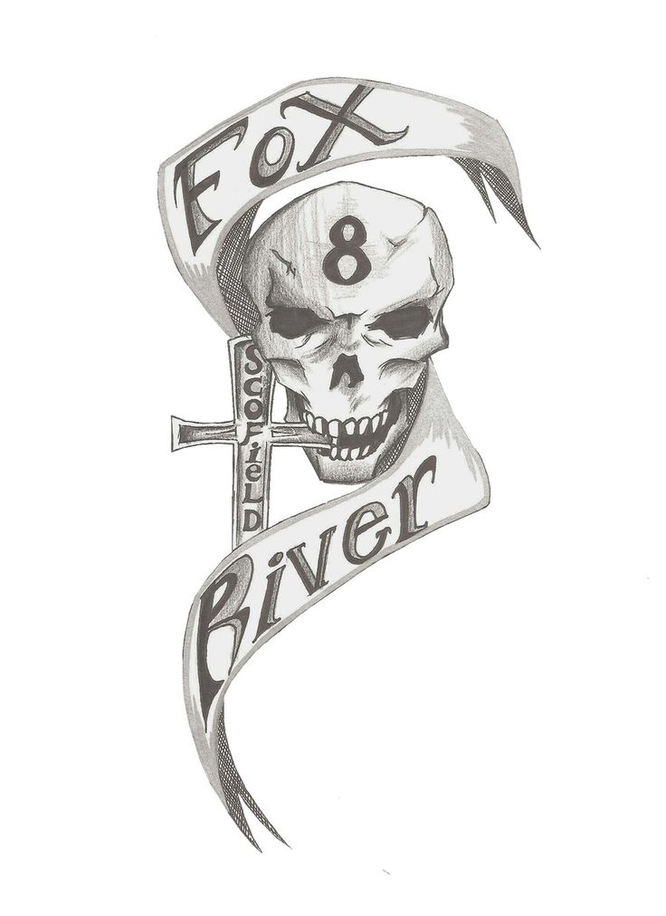 Fox River 8 Tattoo - Prison Break
