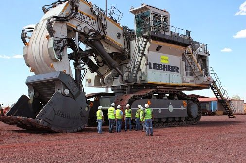 #Liebherr - First R 9800 #Mining Excavator in Africa. And: the first one in a face shovel configuration!