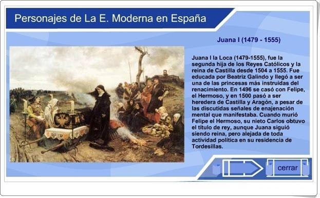 """""""Personajes de la Edad Moderna en España"""" (Historia de Educación Primaria)"""