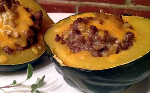 Try This Simple Stuffed Squash - I thought I had already pinned this. It's so good...and easy!