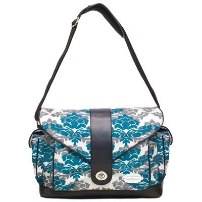 """I want it!"" -Kali M. JJ Cole Diaper Bag Myla Teal Fleur from #customerfavorites #diaperbag"