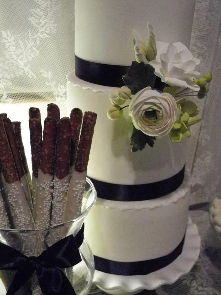 Gâteau et bretzels trempés dans le chocolat   Farine et Chocolat