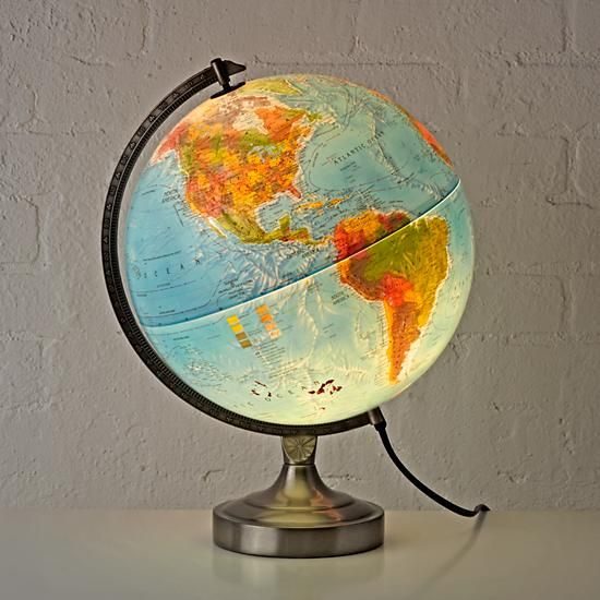 Kids Illuminated World Globe Lamp | The Land of Nod