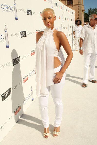 e9e9ef03742e Amber Rose Daily - Amber Rose at The Annual White Party held at a... |  Amber Rose | Amber rose, All white, Amber