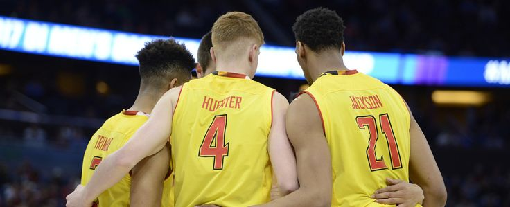 Freshman Kevin Huerter scored 19 points but No. 11 seed Xavier upended sixth-seeded Maryland, 76-65, in the first round of the 2017 NCAA Men's Basketball Tournament Thursday at Amway Center.