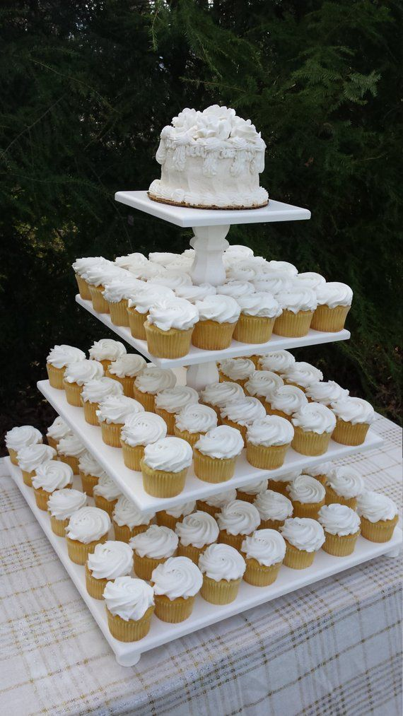 Cupcake Stand Wedding Cupcake Stand Wood Cupcake Stand Square