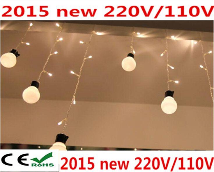 Pas cher Froide blanc chaud 48 LEDs ampoule LED Icicle lumières de noël Festival de la