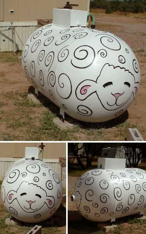 Grill Gas Flash: 15 Prettily Painted Propane Tanks