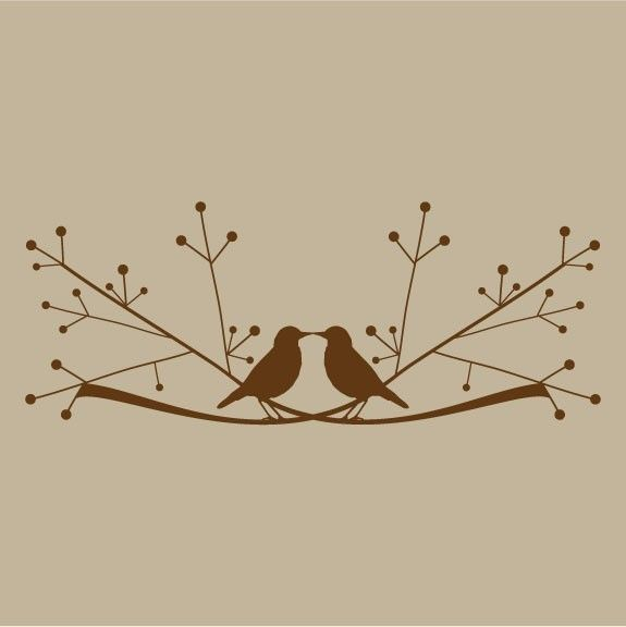 love birds on a limb vinyl sticker decal. $30.00, via Etsy.
