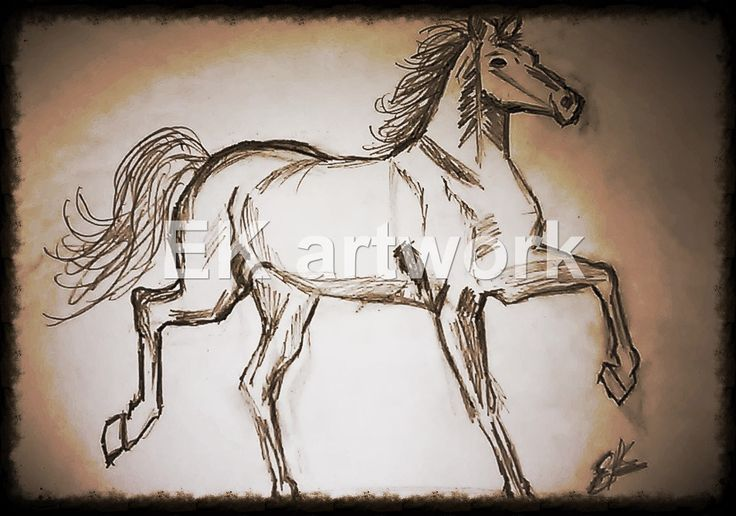 Paintings and figurines of horses, either solitary or in groups of nine are common in offices and homes. EK artwork
