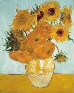 Art 5  Painting- Sunflowers  Van Gogh  1889  Oil on Canvas