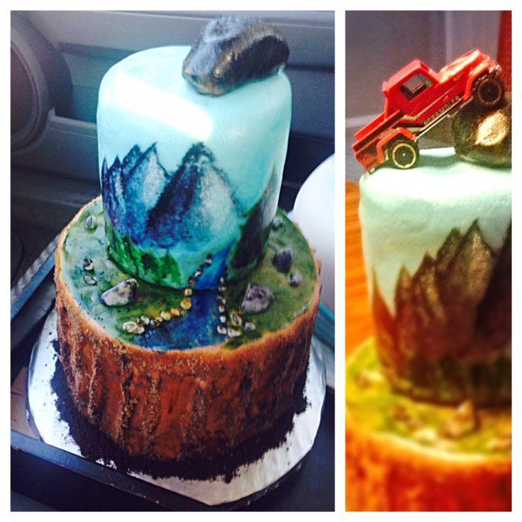 4x4 outdoorsman cake
