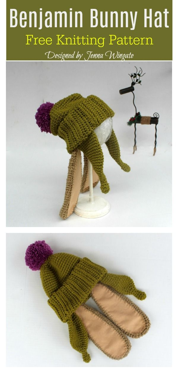 Benjamin Bunny Hat Free Knitting Pattern Knitted Beret 9427b5799c3