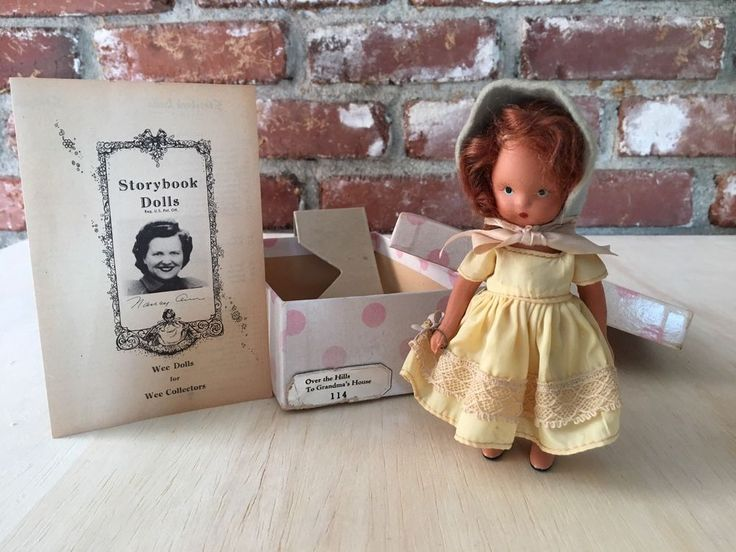 """Nancy Ann Storybook Doll """"Over The Hill To Grandma's House"""" #114 In Box Bisque #NancyAnn #Dolls"""
