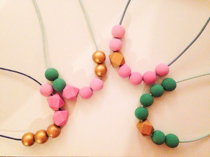 Necklaces for little girls. Designed in beautiful bright colours for kids. Hand painted with non-toxic acrylic paints & finished with a food grade sealer. Custom Made Necklaces.