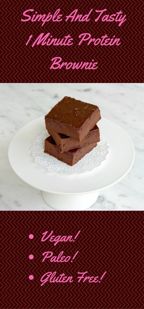 Basic And Tasty1 Minute ProteinBrownie