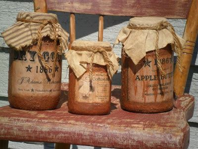 Primitive Mason Jar Craft Ideas Mason Jars Primitive