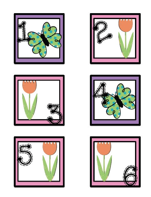ABB & ABCC Pattern May Calendar Cards - FREE!