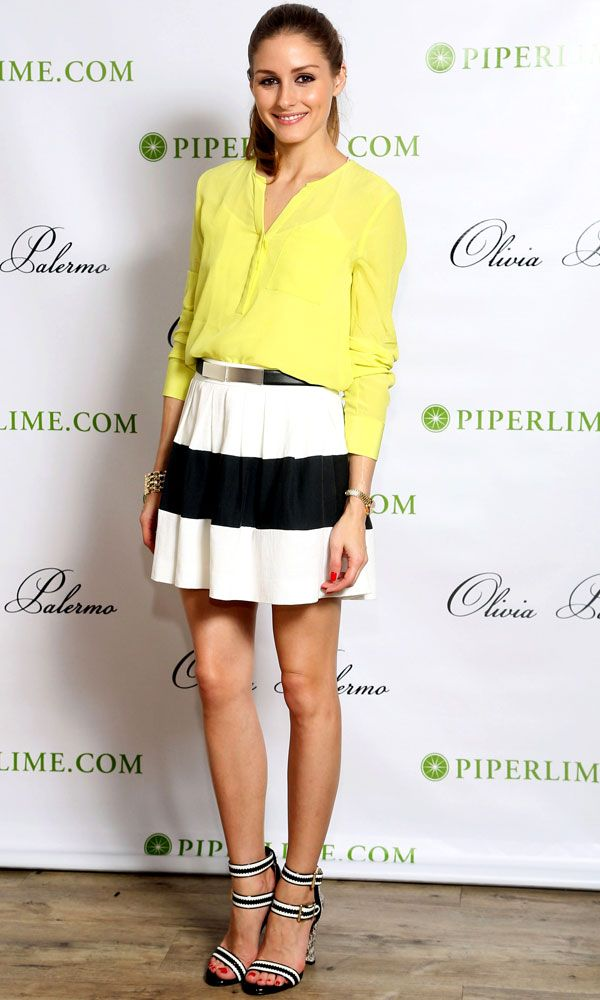 Olivia Palermo for Piperlime in an adorable outfit