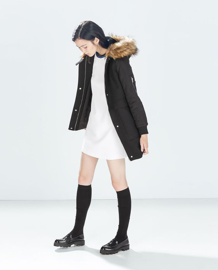 Image 1 of OVERCOAT WITH HOOD from Zara