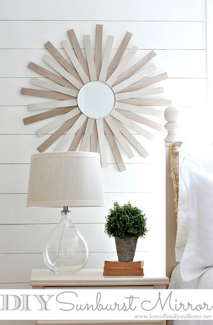 DIY Sunburst Mirror-Make this beautiful mirror for mom this Mother's Day. Easy step-by-step tutorial. #GiftsforMom