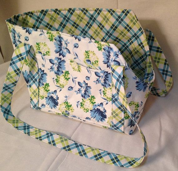 Blue and Green Floral Dog Carrier Purse Large by amp0198 on Etsy, $45.00